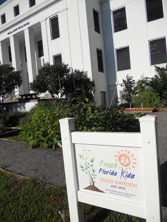 "Photo: Sign of ""Fresh for Florida Kids"""