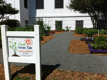 Photo: Fresh for Florida Kids new garden