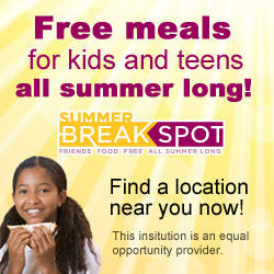 Banner Ad: Free Meals for Kids and Teens All Summer Long!