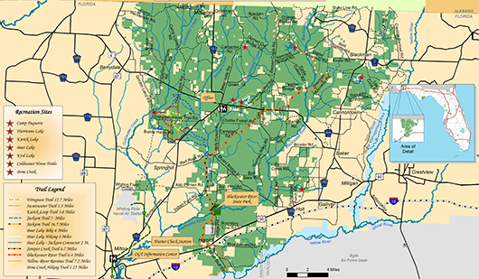 Map Of Blackwater River State Forest