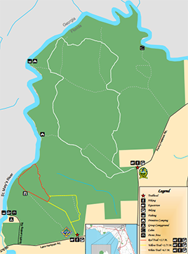 Map of Ralph E. Simmons State Forest.