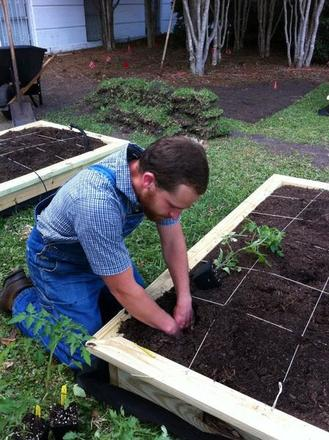 Photo: Nathan gardening