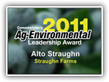 2011 Commissioner's Agricultural Environmental Leadership Award winner: Alto Straughn
