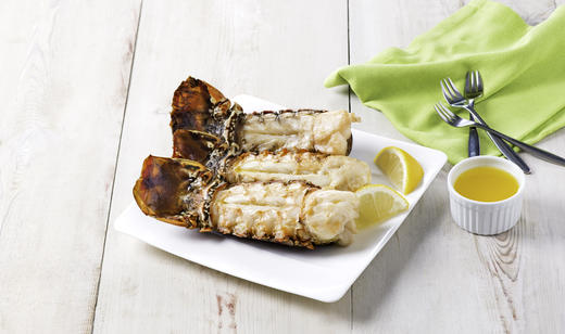 Sweet Cream Butter Broiled Florida Spiny Lobster Tails ……..