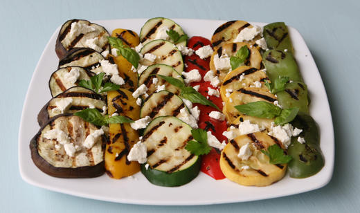 FOOD:Char-Grilled Florida Vegetables with Feta …….