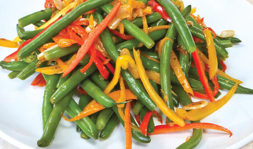 FOOD:Florida Snap Bean and Sweet Pepper Sauté ………