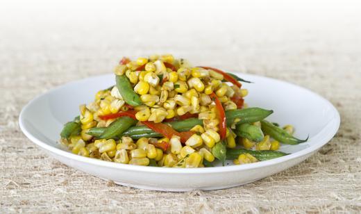 FOOD: Florida Sweet Corn, Snap Bean and Bell Pepper Sauté …….
