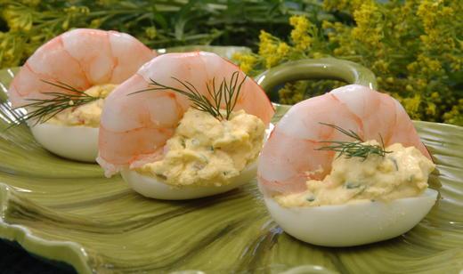 Shrimp in Deviled-Egg Boats / Sides / Recipes / Home - Florida ...