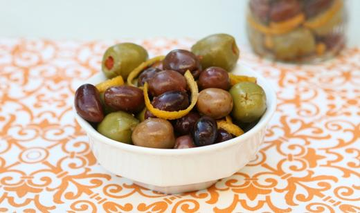 Florida Citrus Marinated Olives        ……..